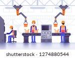 smart manufacture factory... | Shutterstock .eps vector #1274880544