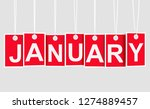 january text on red hanging... | Shutterstock . vector #1274889457