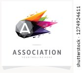 letter a logo design with... | Shutterstock .eps vector #1274924611