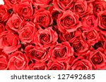 Stock photo red roses background 127492685