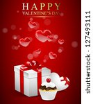 valentine's day card with ... | Shutterstock .eps vector #127493111
