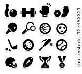 sports equipment icons | Shutterstock .eps vector #127493321