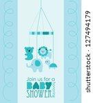 baby boy shower design. vector...