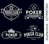 poker related labels emblems... | Shutterstock .eps vector #1274967364