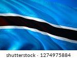 botswana flag. 3d waving flag...   Shutterstock . vector #1274975884