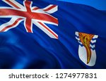 british antarctic flag. 3d... | Shutterstock . vector #1274977831