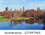 new york city central park in... | Shutterstock . vector #127497965