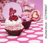 Little Pink Baby Cupcakes With...