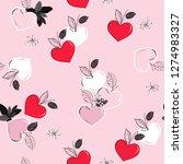 stylish fruity in the heart... | Shutterstock .eps vector #1274983327