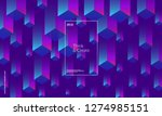 dynamic geometric background.... | Shutterstock .eps vector #1274985151
