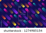 minimal geometric background.... | Shutterstock .eps vector #1274985154