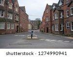 Main road in Repton, Derbyshire, UK