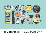 hand drawn illustration cooking ...   Shutterstock .eps vector #1275008047
