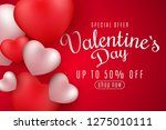 valentine's day banner for sale.... | Shutterstock .eps vector #1275010111
