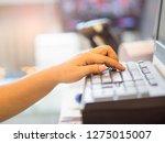 finger s women keyboard... | Shutterstock . vector #1275015007