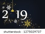 new year 2019 and merry... | Shutterstock .eps vector #1275029737