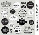 set of labels and elements | Shutterstock .eps vector #127503539