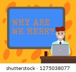 writing note showing why are we ... | Shutterstock . vector #1275038077