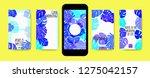 stories template design. tropic ... | Shutterstock .eps vector #1275042157