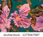 bold floral design. large... | Shutterstock . vector #1275067087
