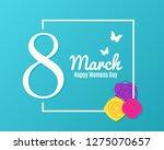8 march banner. womens day... | Shutterstock .eps vector #1275070657