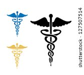 caduceus medical symbol vector... | Shutterstock .eps vector #127507514