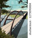 Austin Bridge Modern Vector...