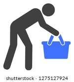 tired buyer persona vector icon ... | Shutterstock .eps vector #1275127924