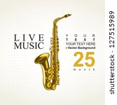 poster for a concert with...   Shutterstock .eps vector #127515989