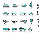 set of transport icons   one | Shutterstock .eps vector #127516859