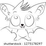 cute anime bat cub child vector ... | Shutterstock .eps vector #1275178297
