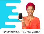 african american woman showing... | Shutterstock . vector #1275193864