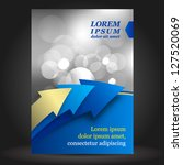 vector blue business brochure... | Shutterstock .eps vector #127520069