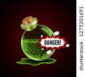 broken magic bottle with danger ...