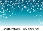 falling snow background.... | Shutterstock .eps vector #1275201721