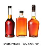 bottles of scotch whiskey on...   Shutterstock . vector #1275203704