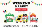 weekend market banner... | Shutterstock .eps vector #1275218107
