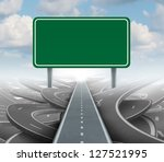 strategy blank sign as a clear... | Shutterstock . vector #127521995
