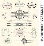 calligraphic design elements   Shutterstock .eps vector #127522157
