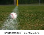 baseball on the outfield chalk... | Shutterstock . vector #127522271