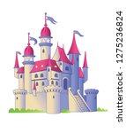 fairy tale castle on a white... | Shutterstock .eps vector #1275236824