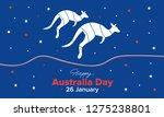 happy australia day holiday... | Shutterstock .eps vector #1275238801