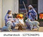 nativity scene jesus kid statue ... | Shutterstock . vector #1275246091