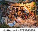 nativity scene jesus kid statue ... | Shutterstock . vector #1275246094