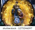 nativity scene jesus kid statue ... | Shutterstock . vector #1275246097