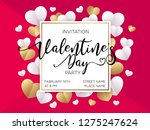 valentine's day party...   Shutterstock .eps vector #1275247624