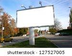 blank billboard on field   Shutterstock . vector #127527005