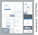 one page website design... | Shutterstock .eps vector #1275279481