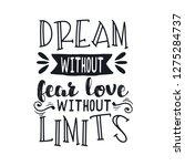 hand drawn typography poster.... | Shutterstock .eps vector #1275284737
