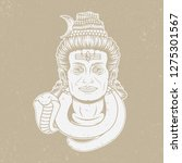 vintage shiva lord design ...   Shutterstock .eps vector #1275301567
